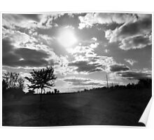 the rolling plains B&W Poster