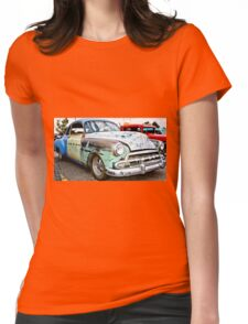 Classic American Hot Rod Womens Fitted T-Shirt