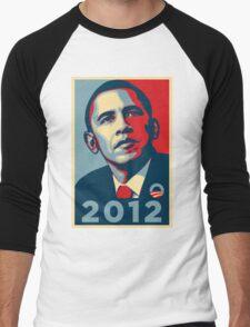 Obama 2012 Election Poster T-Shirt Men's Baseball ¾ T-Shirt