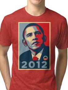 Obama 2012 Election Poster T-Shirt Tri-blend T-Shirt