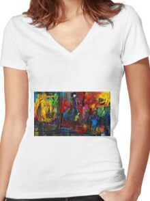 Michigan Women's Fitted V-Neck T-Shirt