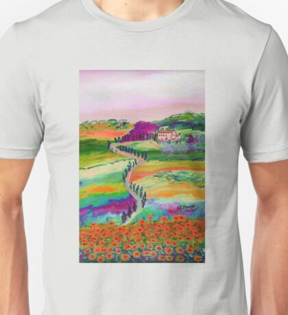 Tuscan countryside Unisex T-Shirt