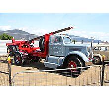 Hobart Show Tasmania - White WC20 Freighter Log Jinker Photographic Print