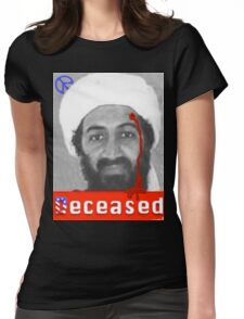 no mo osama Womens Fitted T-Shirt