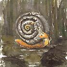 Fibonacci's snail  by Tilly Campbell-Allen