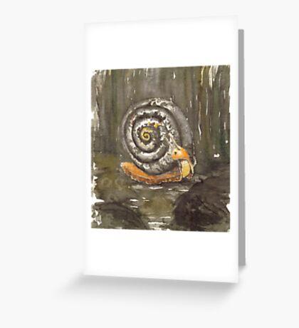 Fibonacci's snail  Greeting Card
