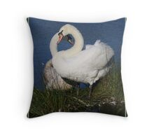 Swan lovers. Throw Pillow