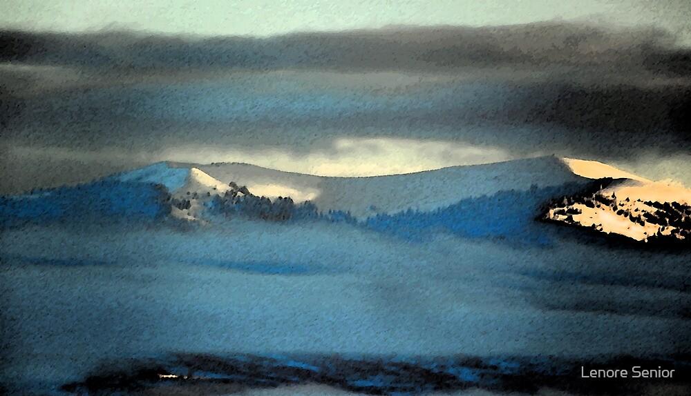 Kenneday Peak Snowy Sunrise by Lenore Senior