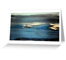 Kenneday Peak Snowy Sunrise Greeting Card