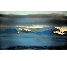 Kenneday Peak Snowy Sunrise Photographic Print