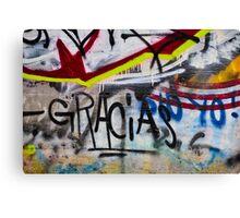 Abstract Graffiti Wall Art Photography - Gracias Canvas Print