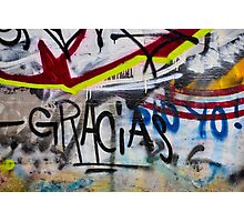Abstract Graffiti Wall Art Photography - Gracias Photographic Print