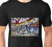 Abstract Graffiti Wall Art Photography - Gracias Unisex T-Shirt
