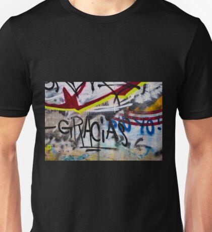 Abstract Graffiti Wall Art Photography - Gracias Unisex T-Shirt