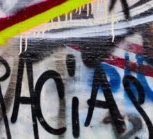 Abstract Graffiti Wall Art Photography - Gracias Sticker
