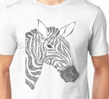Squiggle Zebra Unisex T-Shirt