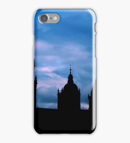 Churches against the sky in Santiago de Compostela iPhone Case/Skin