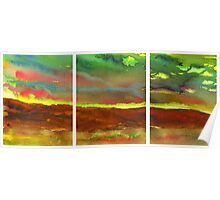 Abstract Landscape (triptych) Poster