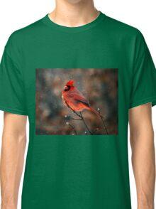 Cardinal in a Snowstorm Classic T-Shirt
