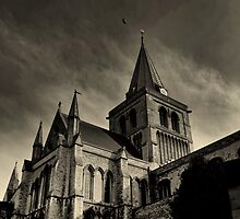 A view of Rochester Cathedral (HDR) by larry flewers