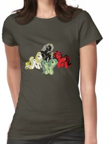 Four Little Ponies of the Apocalypse Womens Fitted T-Shirt