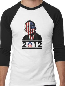 Obama 2012 Election American T-Shirt Men's Baseball ¾ T-Shirt