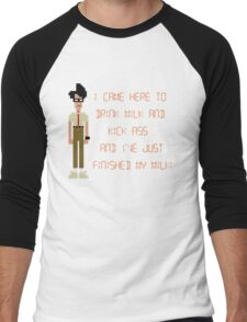 The IT Crowd – I Came Here to Drink Milk and Kick Ass Men's Baseball ¾ T-Shirt