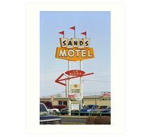 Route 66 Sands Motel Art Print