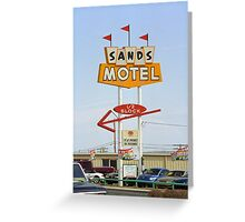 Route 66 Sands Motel Greeting Card