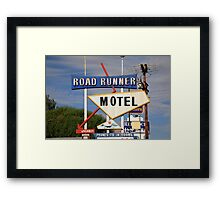 Route 66 - Road Runner Motel Framed Print