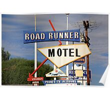 Route 66 - Road Runner Motel Poster