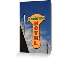 Route 66 - Lexington Hotel Greeting Card