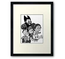"""The Crowd "" Playstation all stars shirt Framed Print"