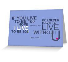 100 Greeting Card