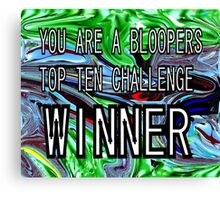 CHALLENGE TOP TEN Canvas Print
