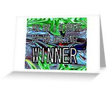CHALLENGE TOP TEN Greeting Card