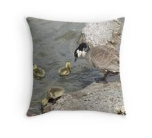 A Mothers Watchful Eye Throw Pillow