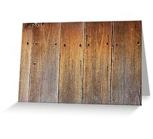 wooden planks Greeting Card