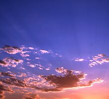 Sunset over Salt Lake by SkoyaMoore