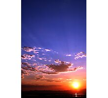 Sunset over Salt Lake Photographic Print