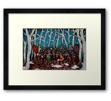 The Winter Feast Framed Print