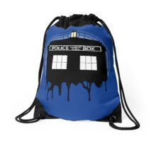 Time drip Drawstring Bag