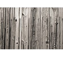 sepia wooden planks Photographic Print