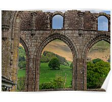 An arch in the ruins of Llanthony Priory - Wales Poster