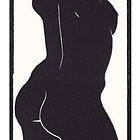 Black & white female figure by Edmund Hodges
