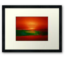 SUNSET ON MARS Framed Print