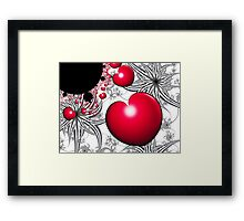 Vinehearts with Spiderplants Framed Print