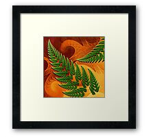 Leaftips in Forest Framed Print