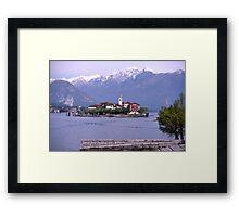 Isola dei Pescatori, Borromean Islands, Lake Maggiore, Italy. Framed Print
