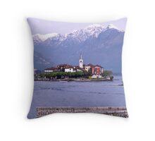 Isola dei Pescatori, Borromean Islands, Lake Maggiore, Italy. Throw Pillow